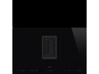 Индукционная варочная панель со встроенной вытяжкой, 80 см, Чёрный Smeg HOBD682D