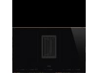 Индукционная варочная панель со встроенной вытяжкой, 80 см, Чёрный Smeg HOBD682R