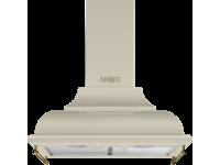 Вытяжка настенная декоративная, 59,5 см, Кремовый Smeg KC16POE