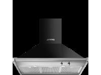 Вытяжка настенная, 90 см, Чёрный Smeg KD90HNE