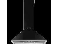 Вытяжка настенная, 90 см, Чёрный Smeg KPF9BL