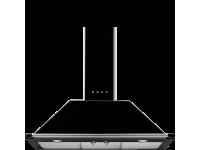 Вытяжка настенная, 90 см, Чёрный Smeg KT90BLE
