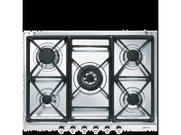 Газовая варочная панель, 70 cм, Нержавеющая сталь Smeg SE70SGH-5