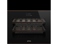 Холодильный шкаф для вина встраиваемый, 45 см, Чёрный Smeg CVI618LWNR2