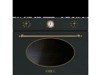 Встраиваемая микроволновая печь, 60 см, Чёрный Smeg SF4800MAO