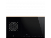 Комбинированная варочная панель газ + индукция, 90 см, Чёрный Smeg PM6912WLDR