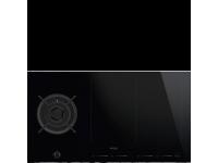 Комбинированная варочная панель газ + индукция, 90 см, Чёрный Smeg PM6912WLDX