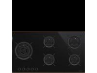 Газовая варочная панель, 90 cм, Чёрный Smeg PV695LCNR