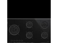 Газовая варочная панель, 90 cм, Чёрный Smeg PV695LCNX