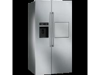 Отдельностоящий холодильник Side-by-Side, Нержавеющая сталь Smeg SBS63XEDH