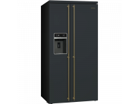 Отдельностоящий холодильник Side-by-Side, Антрацит Smeg SBS8004AO