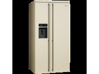Отдельностоящий холодильник Side-by-Side, Кремовый Smeg SBS8004PO