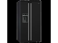 Отдельностоящий холодильник Side-by-Side, Чёрный Smeg SBS963N