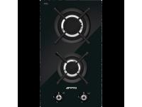 Газовая варочная панель, 30 cм, Чёрный Smeg PV332CN