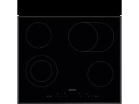 Стеклокерамическая варочная панель, 60 см, Чёрный Smeg SE364EMTB