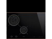 Комбинированная варочная панель газ + индукция, 75 см, Чёрный Smeg PM6721WLDR