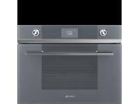 Компактный духовой шкаф, комбинированный с микроволновой печью, 60 см, Серебристый Smeg SF4102MCS