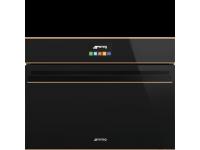 Компактный духовой шкаф, комбинированный с микроволновой печью, 60 см, Чёрный Smeg SF4604MCNR