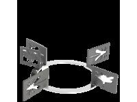 Набор декоративных решеток  для варочных панелей Smeg KPDSN100I. Дизайн - насекомые.