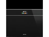 Компактный духовой шкаф, комбинированный с пароваркой, 60 см, Чёрный Smeg SF4604PVCNX1