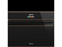 Компактный духовой шкаф, комбинированный с пароваркой, 60 см, Чёрный Smeg SF4604VCNR1
