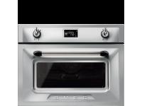 Компактный духовой шкаф, комбинированный с микроволновой печью, 45 см, Нержавеющая сталь Smeg SF4920MCX1