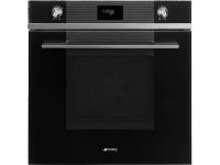 Многофункциональный духовой шкаф, 60 см, Чёрный Smeg SF6101VN