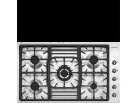 Газовая варочная панель, 87 см, Нержавеющая сталь Smeg PGF95-4
