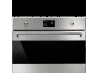 Компактный духовой шкаф, комбинированный с пароваркой, 60 см, Нержавеющая сталь Smeg SF4390VCX1