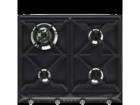 Газовая варочная панель, 60 см, Чёрный Smeg SR964NGH