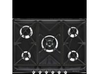 Газовая варочная панель, 70 см, Чёрный Smeg SR975NGH