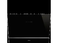 Вытяжка настенная, 80 см, Чёрный Smeg KV28N