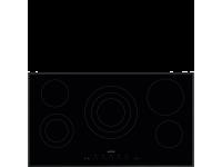 Стеклокерамическая варочная панель, 90 см, Чёрный Smeg SE395ETB