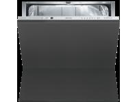 Полностью встраиваемая горизонтальная посудомоечная машина, 60 см, Серебристый Smeg STC75
