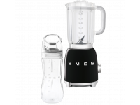 Стационарный блендер, объем кувшина 1,5л, Чёрный Smeg BLF01BLEU + переносной контейнер из TritanTM BGF01 в подарок!