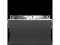 Полностью встраиваемая горизонтальная посудомоечная машина, 90 см, Серебристый Smeg STO905-1