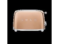 Тостер на 2 ломтика, Розовое золото Smeg TSF01RGEU