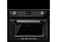 Компактный духовой шкаф, комбинированный с пароваркой, 60 см, Чёрный Smeg SF4920VCN
