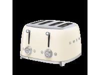 Тостер на 4 ломтика, Кремовый Smeg TSF03CREU