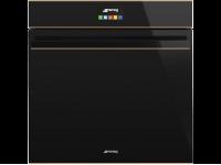 Многофункциональный духовой шкаф с функцией пиролиза, 60 см, Чёрный Smeg SFP6604NRE