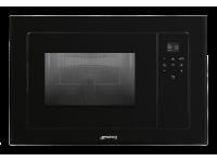 Встраиваемая микроволновая печь с грилем, 60 см, Чёрный Smeg FMI120N2