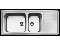 Мойка, Нержавеющая сталь матовая, крыло справа Smeg LG116D2