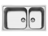 Мойка, Нержавеющая сталь матовая Smeg LG862-2