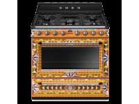 Отдельностоящий варочный центр, 90х60 см, Dolce & Gabbana Smeg TR90DGC9