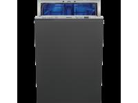 Полностью встраиваемая посудомоечная машина, 44,8 см, Серебристый Smeg STA 4526