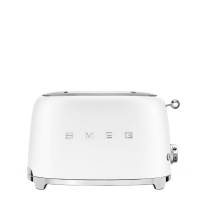 Тостер на 2 ломтика, Белый матовый Smeg TSF01WHMEU