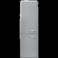 Отдельностоящий двухдверный холодильник, стиль 50-х годов, 60 см, Серебристый Smeg FAB32LSV3