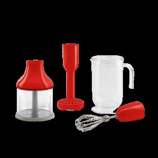 Набор аксессуаров для погружного блендера красный Smeg HBAC01RD