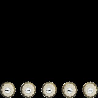 Набор ручек для варочных поверхностей Smeg 5MP700PO