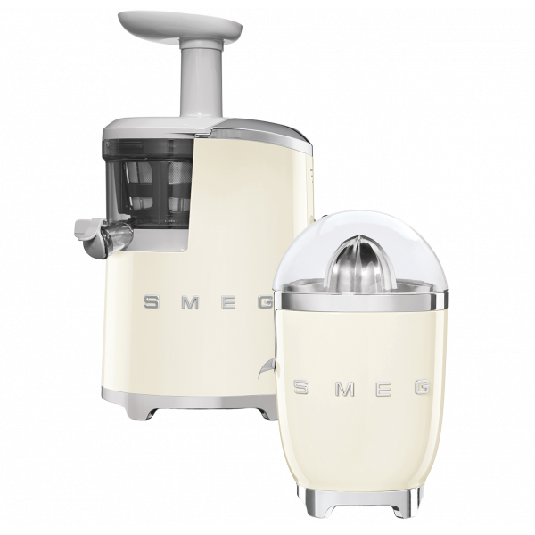 Соковыжималка шнековая, 43 об/мин, Кремовый Smeg SJF01CREU + соковыжималка для цитрусовых CJF01CREU